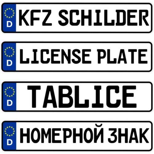 2 amtliche Autoschilder Kfz Kennzeichen Nummernschilder 520 x 110 mm