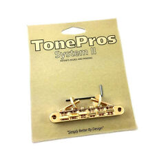 Tone Pros Gold AVR2 Locking Vintage Style Tunematic Guitar Bridge GB-0523-002