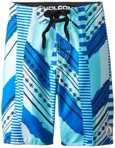 NEW BOYS VOLCOM tild stripe BOARDSHORTS SHORTS BLUE MULTI COLOR