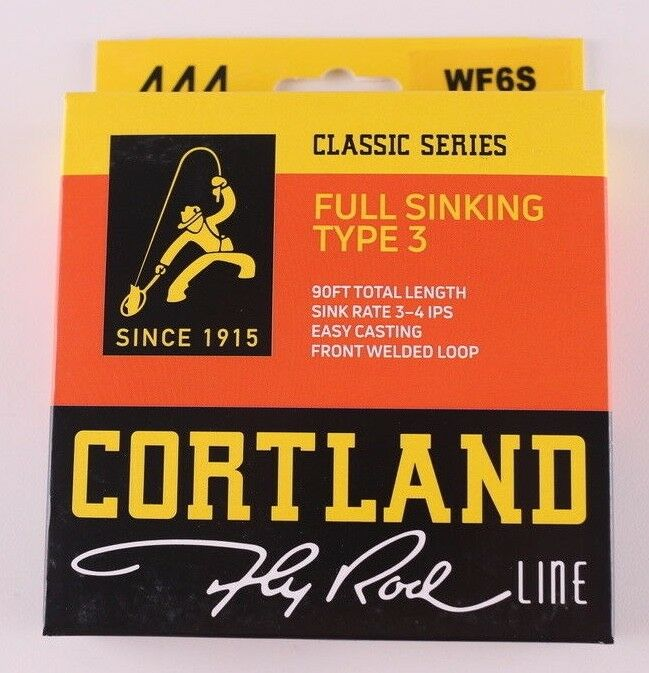 Cortland 444 Full Sinking Type 3 WF6S Fly Line Free Fast Shipping 408067