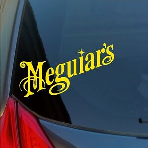 Two-Meguiar-039-s-vinyl-stickers-decals-wax-detailing-polish-kit-tire-car-care-show