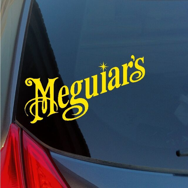 Two Meguiar's vinyl stickers decals wax detailing polish kit tire car care show