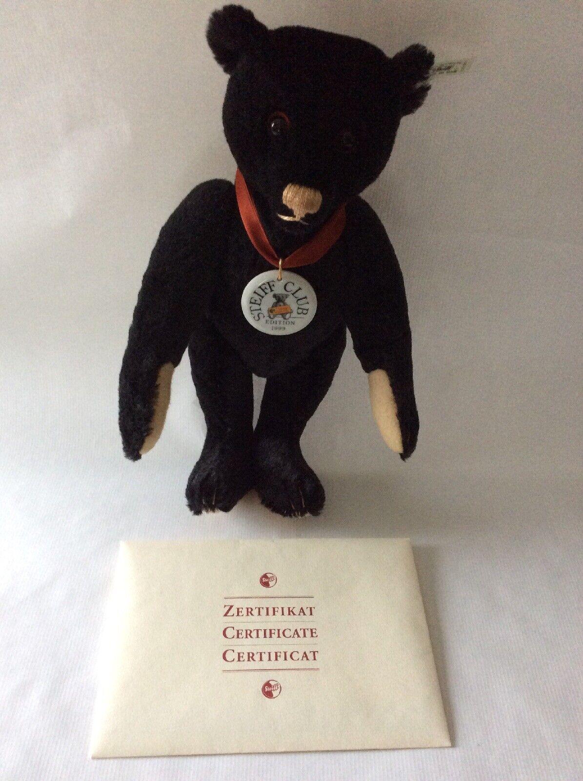 Steiff Club Edition 1999/2000 1912 Replica Schwarz 35 Mohair Teddy Bear