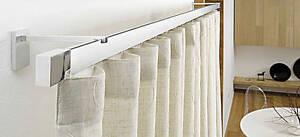 Scorritenda-Corda-Strappo-Bastone-per-Tenda-Piatto-Alluminio-Lucido-o-Satinato