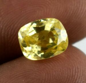 Festive Sales 8.30 Ct Yellow Sapphire Gemstone Cushion Natural Certified Z3231