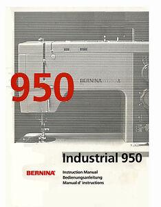Details about Bernina 940 / 950 Service manual & Parts or Instruction  manual on CD or DWNLD