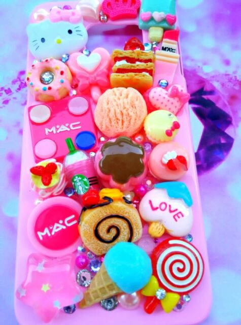 Hello kitty cute pink MAC decoden fitted phone case for ALL Samsung models