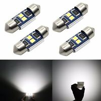 JDM ASTAR 4x Interior Map Dome Door Lights 31MM DE3157 3030 LED White LED Bulbs