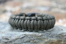 550 Paracord Survival Bracelet King Cobra OD Green//Desert Camo Camping Tactical
