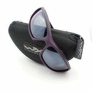 52bd09c9fae Wiley X CCSLE01 Sleek Matte Violet Silver Flash New Sunglasses ...