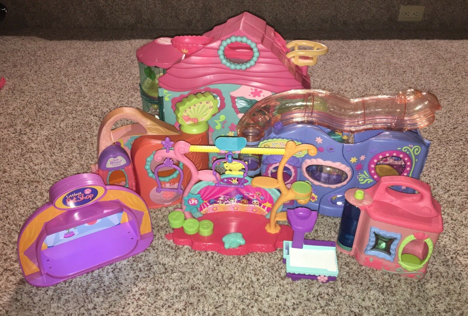 Lot of Hasbro LPS LITTLEST PET SHOP Playsets