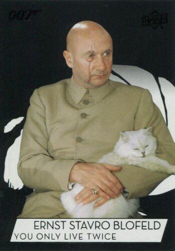 James Bond Collection SP Base Card #104 Donald Pleasance as Ernst Stavro Blofeld