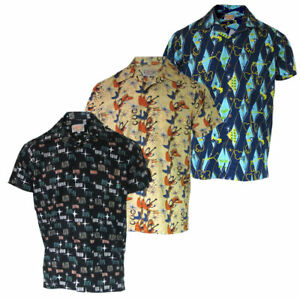 2a42da94 Image is loading Mens-Atomic-Tiki-Retro-Rockabilly-Hawaiian-Holiday-Beach-