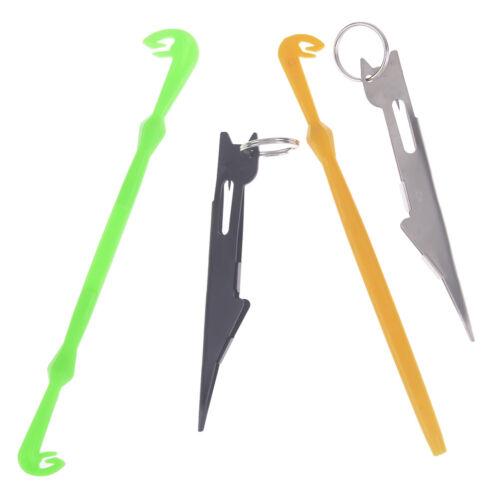 Schnelles Nagelknoten-Bindewerkzeug /& Schlaufenbinder Haken Tier Angelwerkze WS