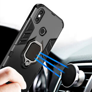 buy popular 43752 6cc18 Details about Magnetic Ring Holder Case for Xiaomi Redmi Note 7 Pro/Note 5  6 Pro Hybird Cover