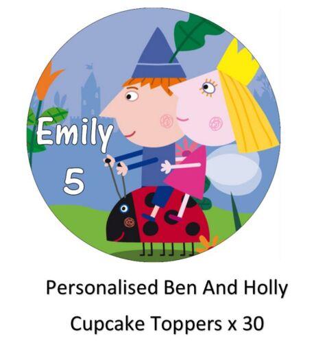 Ben et holly/'s little kingdom personnalisé cupcake toppers comestible tranche papier