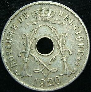 1920 Belgique Belgique Belgie 25 Cents Centimes Efyr5zfh-08004544-195057122