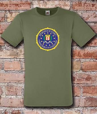 FBI Federal Bureau of Investigation 110th Anniversary Navy BLUE Morale T-Shirt