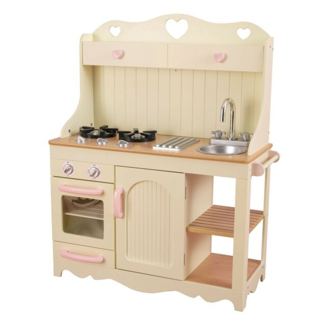 New Kidkraft Wooden Prairie Pretend Play Kitchen