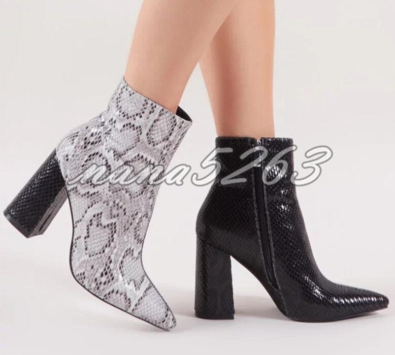 Blockabsatz Blockabsatz Blockabsatz Damenschuhe Ankle Stiefel Stiefeletten Damenschuhe ... c03057