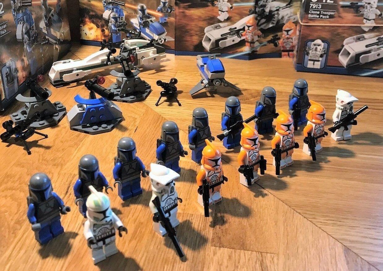 LEGO estrella guerras  7913 & 7914 con rinforzi  15 minicifras in totale + armi EXTRA  da non perdere!