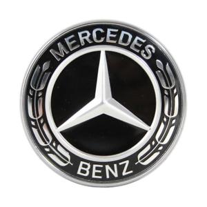 Mercedes-Motorhaube-57mm-Ersatz-Stern-Emblem-Schwarz-C-klasse-W212-W213-W238