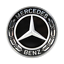 Mercedes-Motorhaube-57mm-Ersatz-Stern-Emblem-Schwarz-C-klasse-W212-W213-W238 Indexbild 1