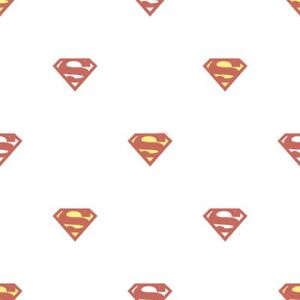 Details About Galerie Official Superman Logo Pattern Superhero Dc Comics Childrens Wallpaper