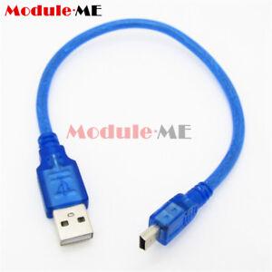 30CM OU Blue short USB 2.0 un maschio a Mini B 5 Pin maschio dati cavo di ricarica