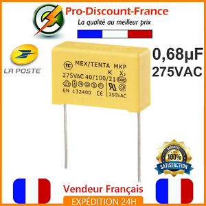 Condensateur-MKP-0-68-F-275VAC-680nF-0-68MF-0-68uF-X2-AC275V-275V-Polypropylene