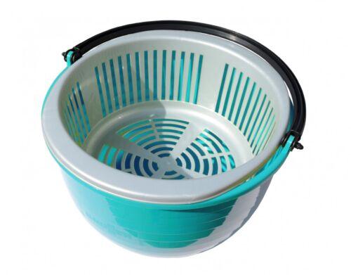 Yachticon Waschschüssel mit Siebeinsatz blau