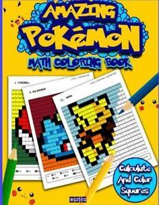 Details about Amazing Pokemon Math Activity Coloring Book Pokemon Go  Detective Pikachu Number