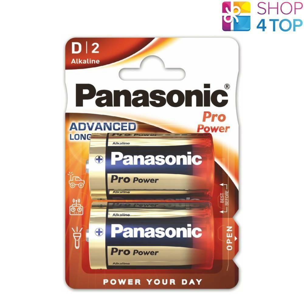 2 panasonic pro power alkaline d lr20 batteries blister 1.5v mono mn1300 am1 new