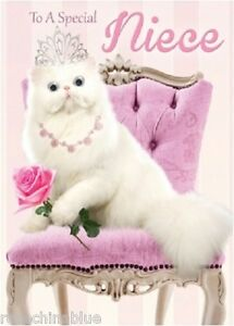 Funny Humour Greeting Card Birthday 3d Moving Eyes Cat Princess