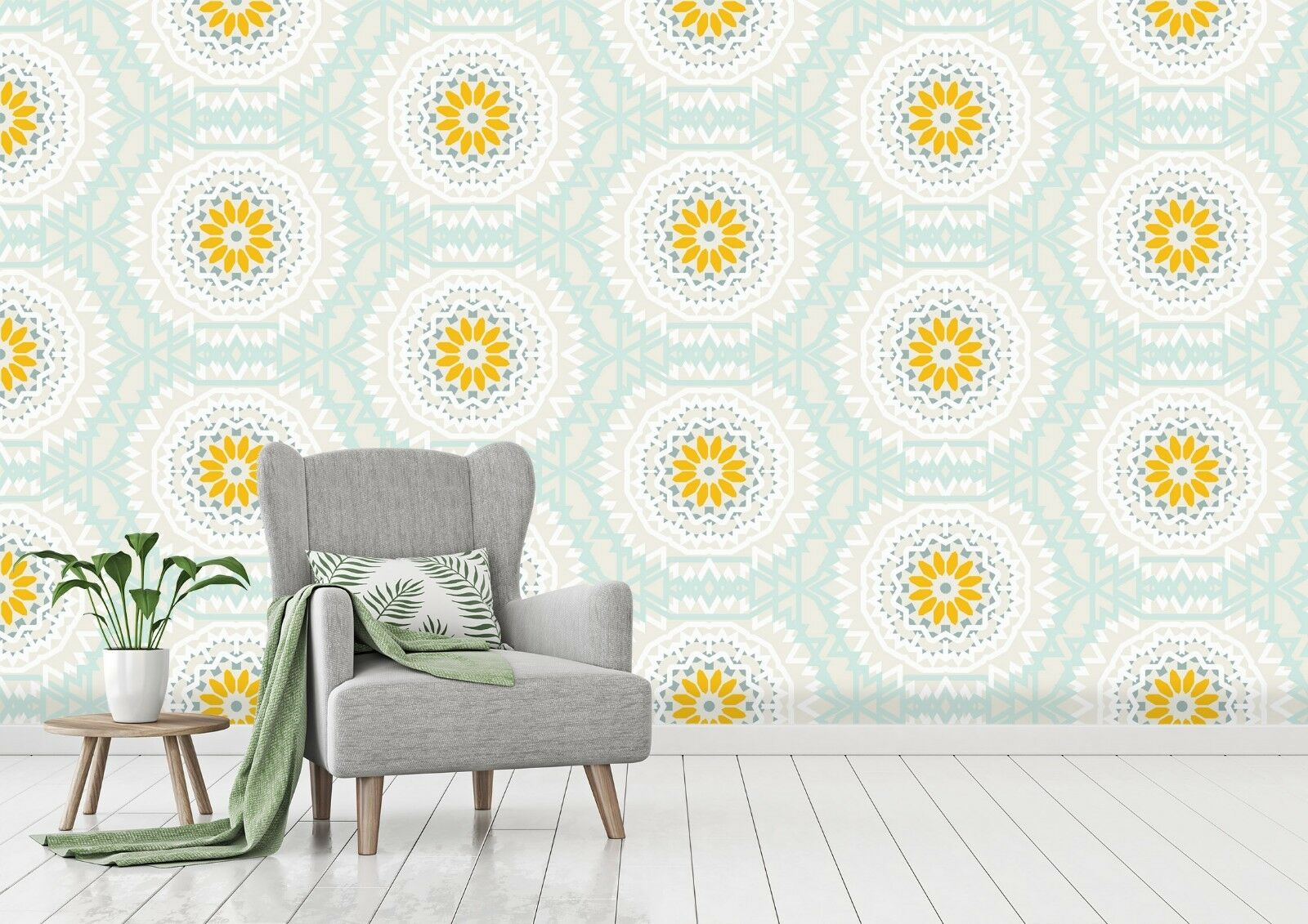 3D Golden Blaumen 889 Tapete Wandgemälde Tapete Tapeten Bild Familie DE Sidney