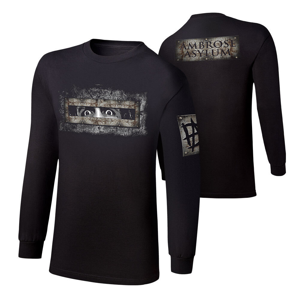 WWE DEAN AMBpink AMBpink ASYLUM LONG SLEEVE YOUTH SHIRT OFFICIAL NEW (ALL SIZES)