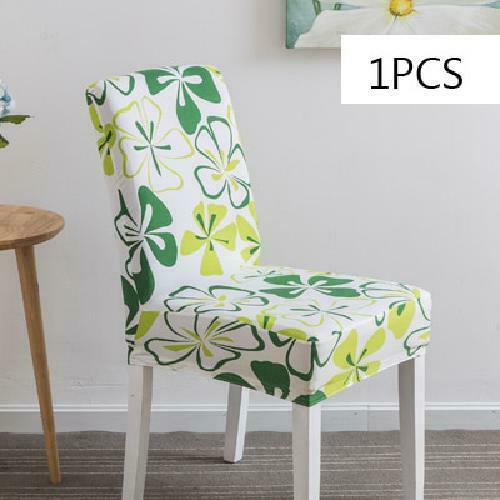 Chair Cover Spandex Kitchen Slipcover Removable Anti-dirty Seat Cover for Banque