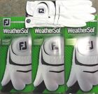 THREE (3) NEW FootJoy WeatherSof Golf Gloves, PICK SIZE, #1 Glove in Golf, WHITE