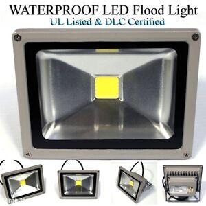 20w Ul Listed Cool White Led Wall Floor Flood Light Spotlight Outdoor 100v 6500k Ebay