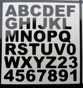 Bien Peel N Stick Vinyle Number Letter Stickers Weather Proof Door Office Home 5434-afficher Le Titre D'origine