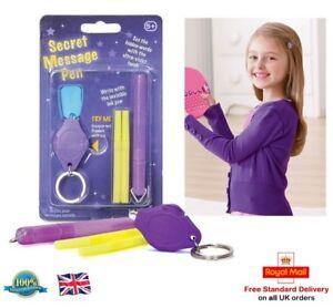SECRET-MESSAGE-PEN-Pen-Magic-Pen-With-UV-Light-Girls-Boys-Gift-Toy-Present