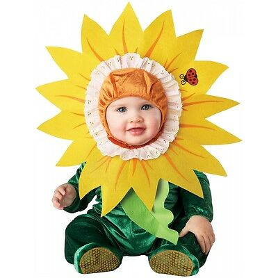 Silly Sunflower Baby Costume Flower Daisy Cute Girls Halloween Fancy Dress