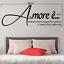 miniature 2 - Adesivo Amore è  stickers murale stanza da letto famiglia decalcomania camera