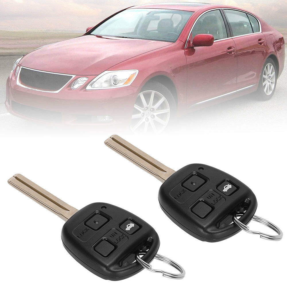 2 Pack Replacement Key Fob Shell Case Fit for Lexus 3 Buttons Keyless Entry Remote Car Key Fob Cover Casing Housing by HelloAuto