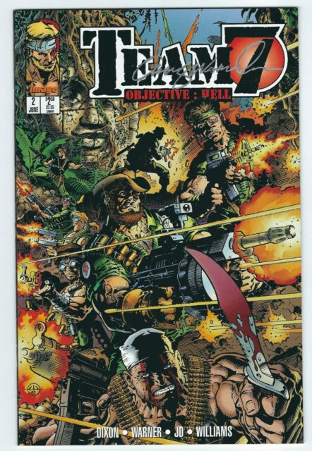 TEAM 7 Objective: HELL #2 June 1995 IMAGE Comics Signed by Chris Warner
