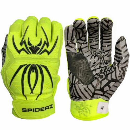 Spiderz 2020 Hybrid Baseball//Softball Batting Gloves Neon Yellow//Black Small