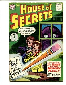 House-of-Secrets-23-4-0-VG-1st-Mark-Merlin-CGC-it-1959-Bin-195-OBO-Nice-copy