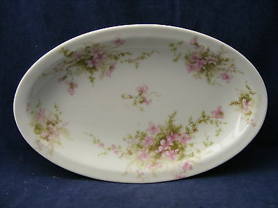 "Theodore Haviland Limgoes Oval Serving Platter Pink Flowers 8.75"" x 5 5/8"""