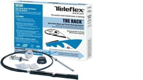 12ft Teleflex SS14112 Boat Rack Steering Cable//Helm Kit