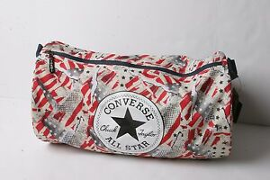 f047137ebbf5 Image is loading Converse-Standard-Duffel-Poly-Bag-American-Glitch-White